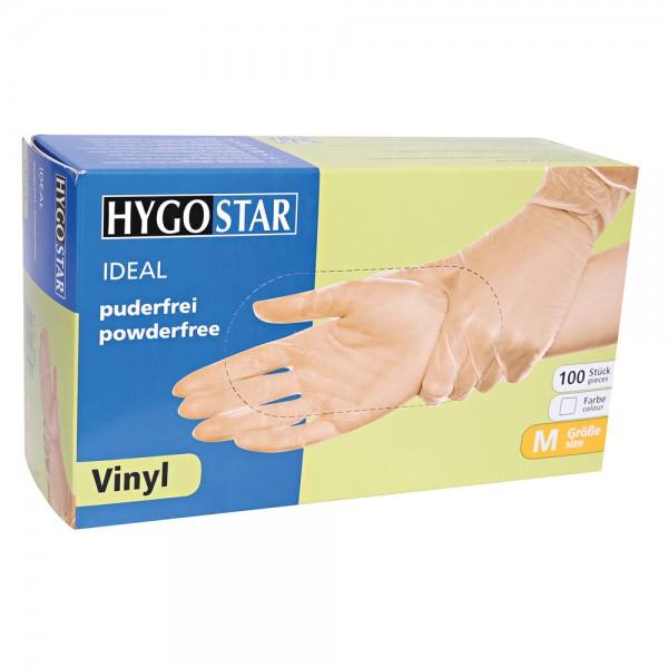Vinyl-Handschuhe Hygostar Ideal - puderfrei - Gr. L - VE 100 Stück