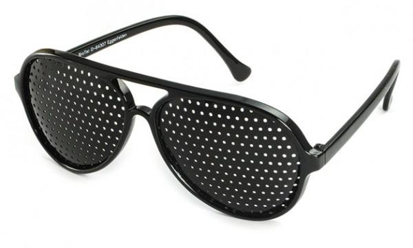 Rasterbrille - mit rundem Raster