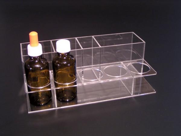 Plexiglasgestell - für 5 Flaschen