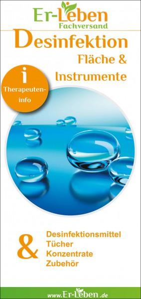 "Therapeuteninfo ""Desinfektion Fläche & Instrumente"""