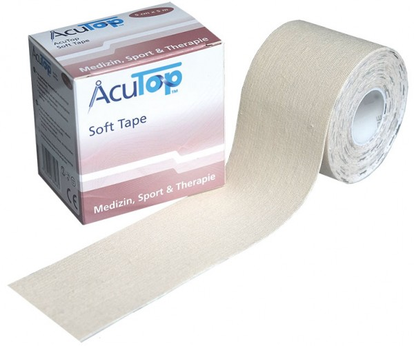 Kinesiology Tape AcuTop Soft Tape - weiß - ungefärbt
